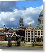 Thames River Panorama Metal Print