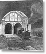 Thames Tunnel: Train, 1869 Metal Print