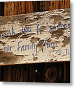Thank You For Supporting Our Family Farm Metal Print