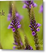 Thank You Wildflowers Metal Print