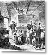 Thanksgiving, 1855 Metal Print