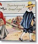 Thanksgiving, C1900 Metal Print
