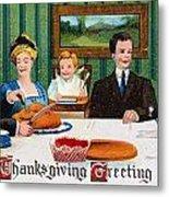 Thanksgiving Card, 1910 Metal Print