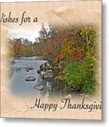 Thanksgiving Greeting Card - Autumn Creek Metal Print