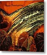 Thanksgiving Greeting Card Metal Print