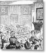 Thanskgiving Dinner, 1857 Metal Print