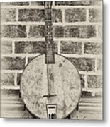 That Old Banjo Mandolin Metal Print