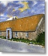 Thatched House Sandy Lane Rush County Dublin Ireland. Metal Print