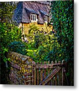 Thatched Roof Country Home Metal Print