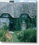 Thatched Roof, England Metal Print
