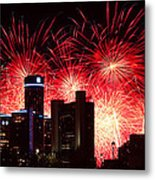 The 54th Annual Target Fireworks In Detroit Michigan - Version 2 Metal Print by Gordon Dean II