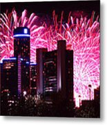 The 54th Annual Target Fireworks In Detroit Michigan Metal Print