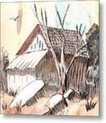 The Abandoned Woodshed Metal Print