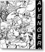 The Advengers Metal Print