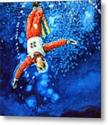 The Aerial Skier 20 Metal Print