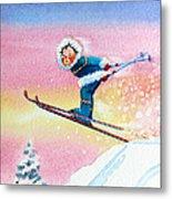 The Aerial Skier - 7 Metal Print