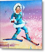 The Aerial Skier - 8 Metal Print