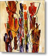 Figurative Abstract African Couple Reproduction On Gallery Wrapped Canvas  Metal Print