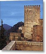 The Alcazaba The Alhambra Metal Print
