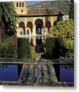 The Alhambra Palace Of The Partal Metal Print