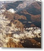 The Alps, Aerial Photograph Metal Print