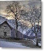 The Alps In Winter Metal Print