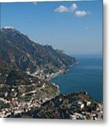 The Amalfi Coast From Ravello Metal Print