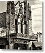 The Ambler Theater In Sepia Metal Print
