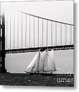The America And The Golden Gate Metal Print by Patty Descalzi
