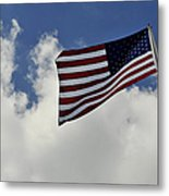 The American Flag Blowing In The Breeze Metal Print