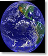 The Americas And Hurricane Andrew Metal Print by Stocktrek Images