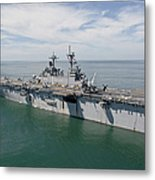The Amphibious Assault Ship Uss Wasp Metal Print