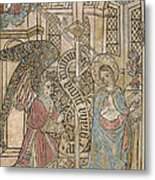 The Annunciation, Depicting Metal Print