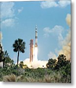 The Apollo 16 Space Vehicle Is Launched Metal Print
