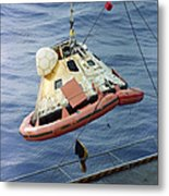 The Apollo 8 Capsule Being Hoisted Metal Print