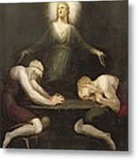 The Appearance Of Christ At Emmaus Metal Print