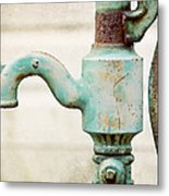 The Aqua Pump Metal Print