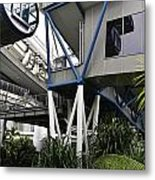The Area Below The Capsules Of The Singapore Flyer Metal Print