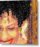 The Artist Who Found Her Smile Metal Print