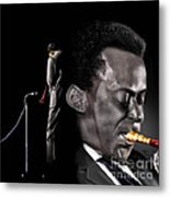 The Back And The Affront Of Miles Davis Metal Print