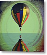 The Balloon And The Sea Metal Print