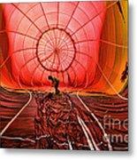 The Balloonist - Inside A Hot Air Balloon Metal Print