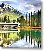 The Banff Bridge Metal Print
