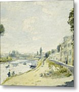 The Banks Of The Seine At Bougival Metal Print