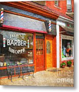 The Barber Shop Metal Print