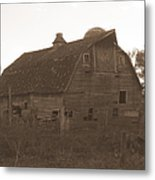 The Barn 3 B/w Metal Print