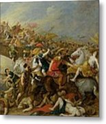 The Battle Between The Amazons And The Greeks Metal Print