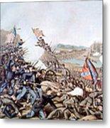The Battle Of Franklin, November 30 Metal Print by Everett