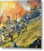 The Battle Of Gettysburg Metal Print by Severino Baraldi