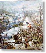 The Battle Of Pea Ridge, Arkansas Metal Print by Everett